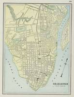 Vintage Map of Charleston SC (1901)