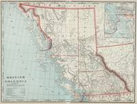 Vintage Map of British Columbia (1901)