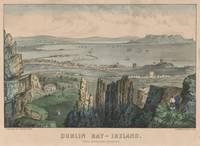 Vintage Pictorial Map of Dublin Bay Ireland (1907)