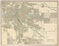 Vintage Map of Denver Colorado (1901)