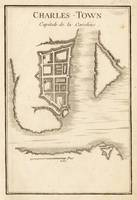 Vintage Map of Charleston SC (1755)