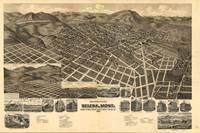 Vintage Pictorial Map of Helena MT (1890)