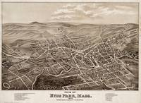 Vintage Pictorial Map of Hyde Park MA (1879)