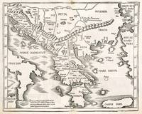 Vintage Map of Greece (1525)