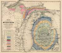 Vintage Michigan Geology Map (1873)