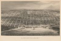 Vintage Pictorial Map of Louisville KY (1860)