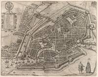 Vintage Map of Hamburg Germany (1588)