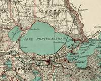 Vintage Map of Lake Pontchartrain (1887)