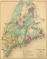 Vintage Maine Geology Map (1894)