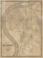 Vintage Map of Chattanooga TN (1885)