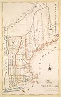 Vintage Map of New England (1830)