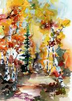 Autumn Forest Symphony Watercolors