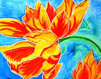 Happy Tulips cheerful paintings