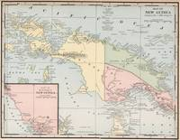 Vintage Map of New Guinea (1901)