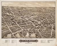 Vintage Pictorial Map of Lynn MA (1879)