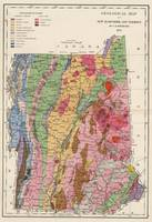 Vintage New Hampshire and Vermont Geology Map (187