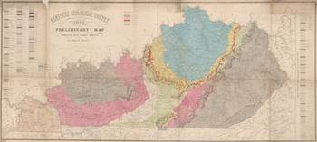 Vintage Geological Map of Kentucky (1877)