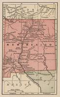Vintage Map of New Mexico (1880)