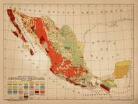 Vintage Geological Map of Mexico (1921)