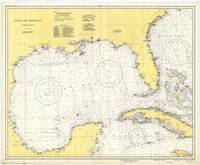Vintage Map of The Gulf of Mexico (1942)