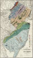 Vintage Geological Map of New Jersey (1839)
