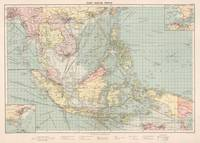 Vintage Map of Indonesia and The Philippine Ports