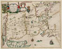 Vintage Map of New England (1675)