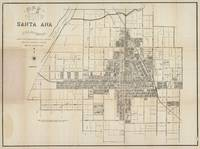 Vintage Map of Santa Ana CA (1907)