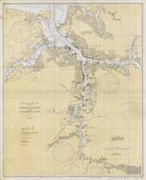 Vintage Norfolk Harbor & Elizabeth River Map (1933