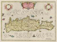 Vintage Map of Crete Greece (1665)