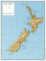 Vintage Map of New Zealand (1971)