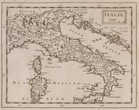 Vintage Map of Italy (1681)