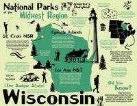 Wisconsin National Parks Infographic Map