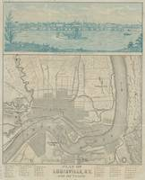 Vintage Map of Louisville KY (1870)