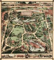 Vintage Pictorial Map of Central Park NYC (1860)