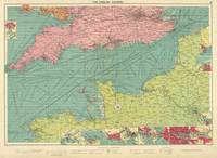 Vintage Map of The English Channel (1922)
