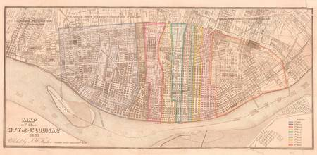 Vintage Map of St Louis MO (1861)