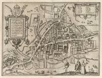 Vintage Map of Cambridge England (1575)