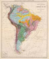 Vintage Geological Map of South America (1873)