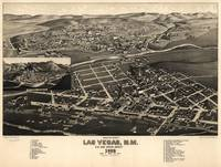 Vintage Pictorial Map of Las Vegas NM (1882)