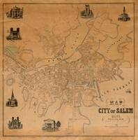 Vintage Map of Salem MA (1851)