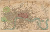 Vintage Map of London England (1815)