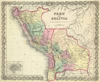 Vintage Map of Peru and Bolivia (1856)