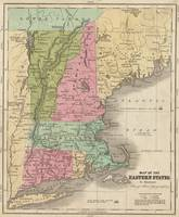 Vintage Map of New England (1829)