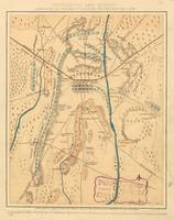Vintage Map of The Gettysburg Battlefield (1864)