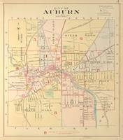 Vintage Map of Auburn NY (1904)