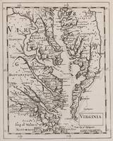 Vintage Map of The Chesapeake Bay (1681)