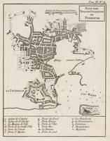 Vintage Map of Plymouth England (1764)