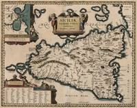 Vintage Map of Sicily Italy (1619)