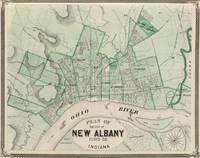 Vintage Map of New Albany IN (1876)